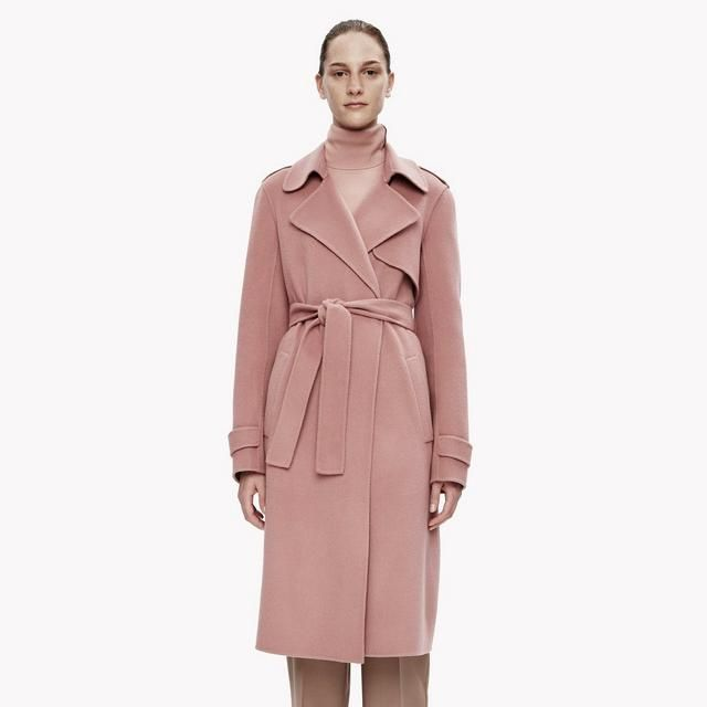 Theory Double-Face Wool-Cashmere Trench Coat | WOMEN&39S FW16