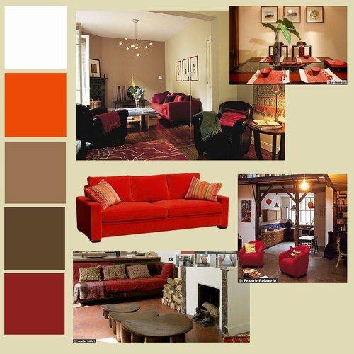 decoration canapé rouge - Recherche Google | Deco | Pinterest | Salons