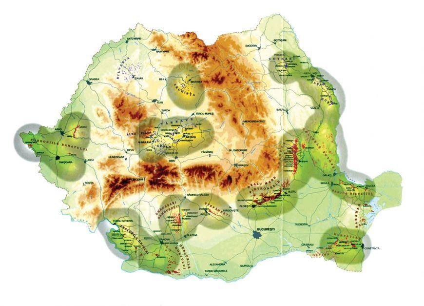 Harta celor mai bune vinuri din Romania. Din ce regiuni vin cei mai apreciati producatori INFOGRAFIC - www.foodstory.ro