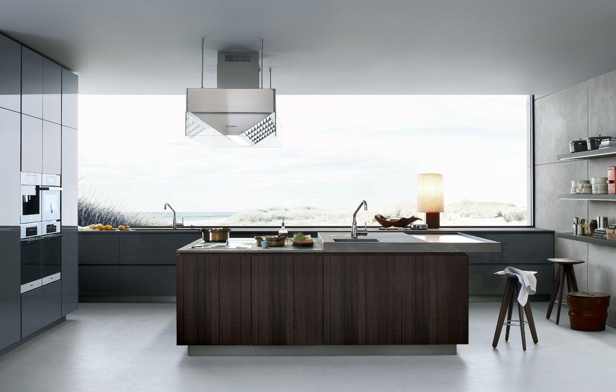 Lacquered wooden kitchen TWELVE by Varenna by Poliform | design ...