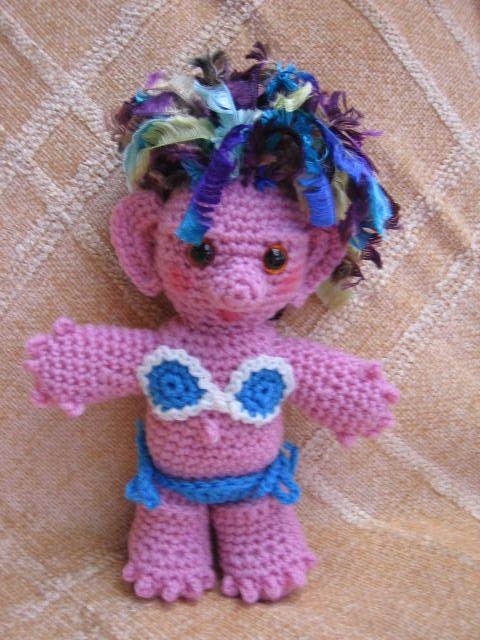 crochetroo: Sheila the Aussie Troll Dolly | Amigurumi | Pinterest