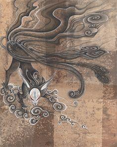 Pin By Jay Stevens On Kitsune Fox Art Japanese Fox Art