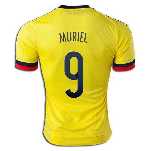 4c7dfac39 Luis Muriel 9 2015 Copa America Colombia Home Soccer Jersey