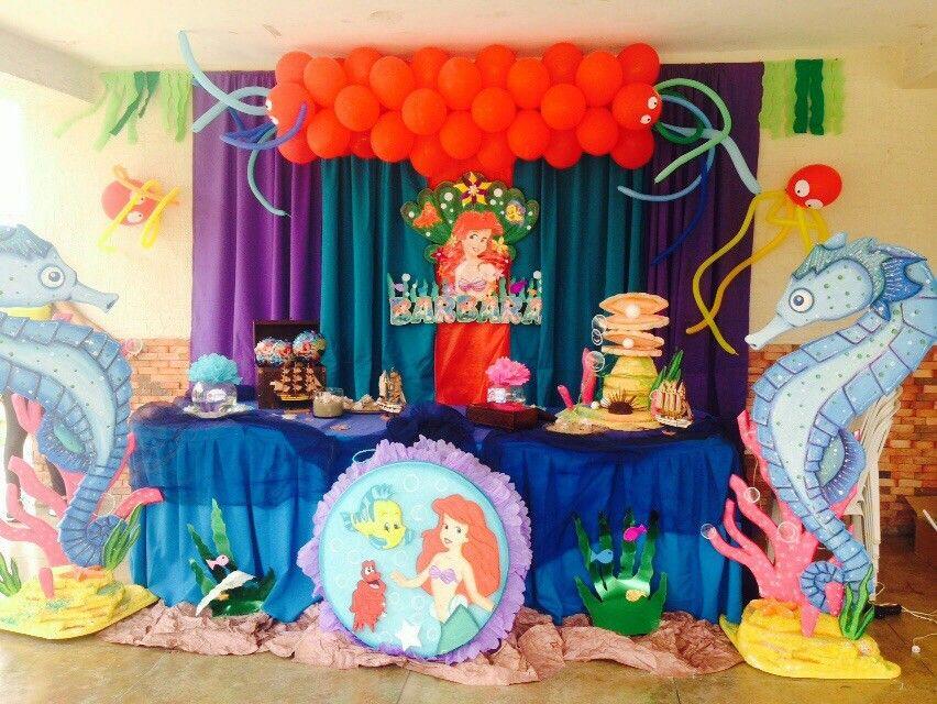 Decoración Fiesta Motivo De Ariel O La Sirenita En 2019