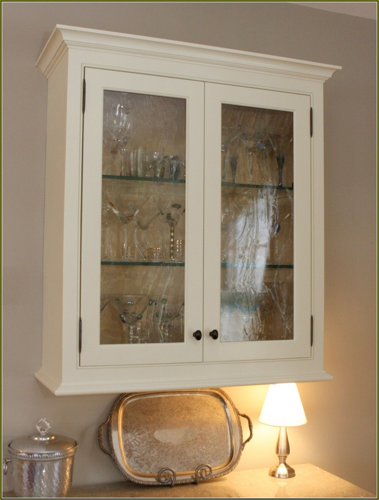 Hanging Wall Cabinet With Glass Doors | Glass cabinet ...