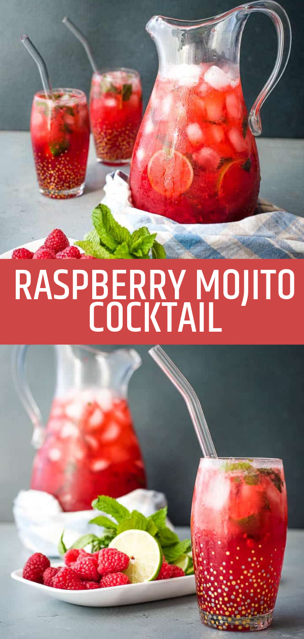 Raspberry Mojito Cocktail - Renee Nicole's Kitchen