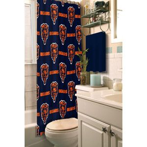 Nfl Chicago Bears Shower Curtain With Images Shower Curtains Walmart Fabric Shower Curtains Shower Curtain