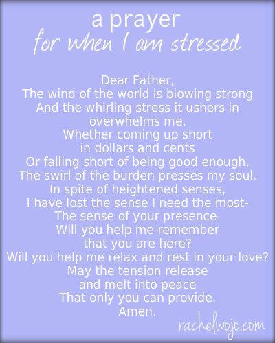 Prayer for stressful times catholic