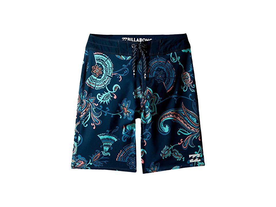 Billabong Kids Sundays X Boardshorts Big Kids Blue Boys Swimwear Help your grom chase their dreams of going pro with these stylish boardshorts Performance fit features se...