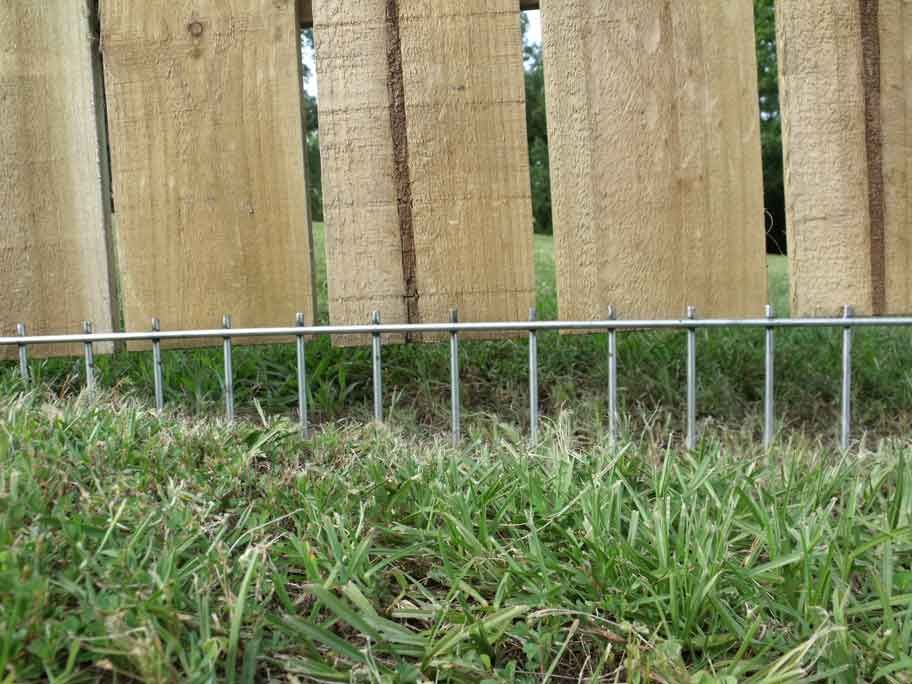 a solution to fence that is raised or that a dog digs around i can