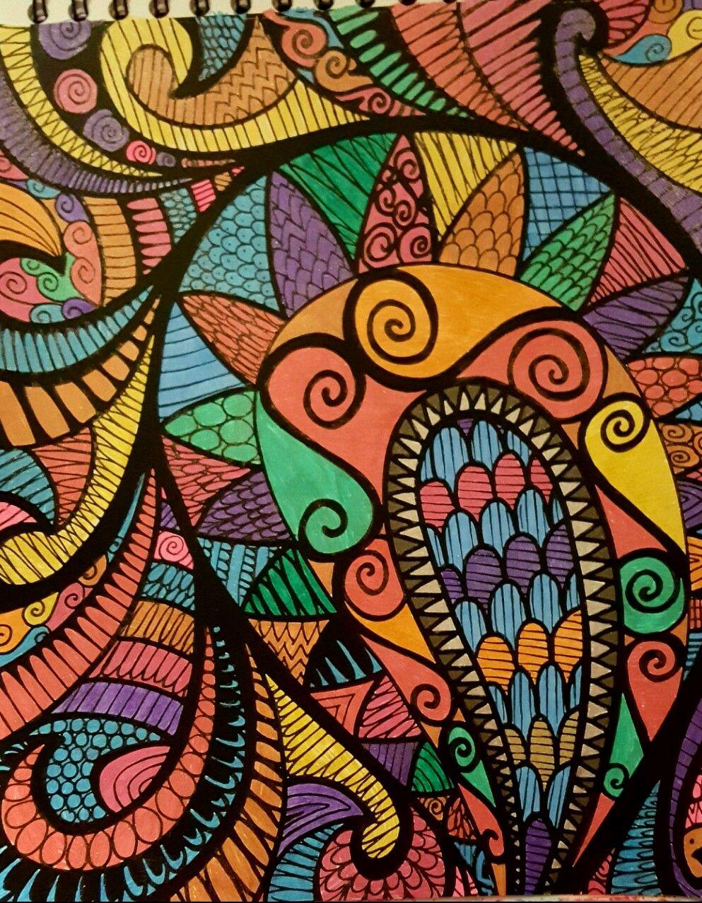 Colorit Wild Doodles Colorist Diane Cole Adultcoloring Coloringforadults Adultcoloringpages Doodle Fractal Art Doodle Coloring Art
