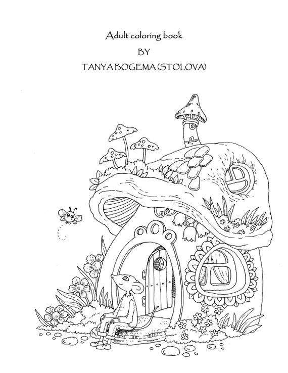 Nice Little Town 5 (Adult Coloring Book, Coloring pages