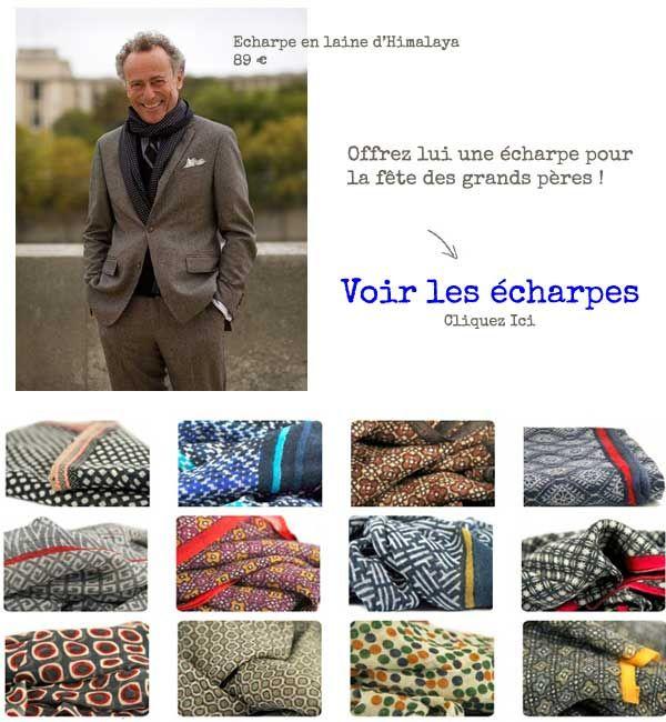 Une  écharpe en laine est le cadeau idéal pour votre grand-père. Retrouvez 3c198f80e39