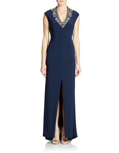 Brands Formalevening Jeweled V Neck Gown Lord And Taylor