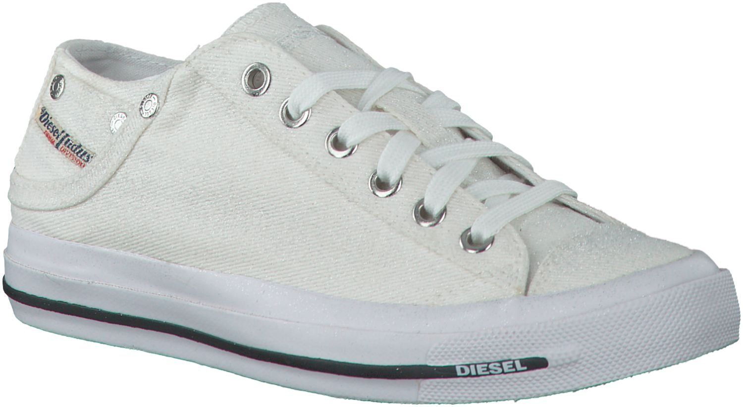 White Glitter Womens Canvas Trainers