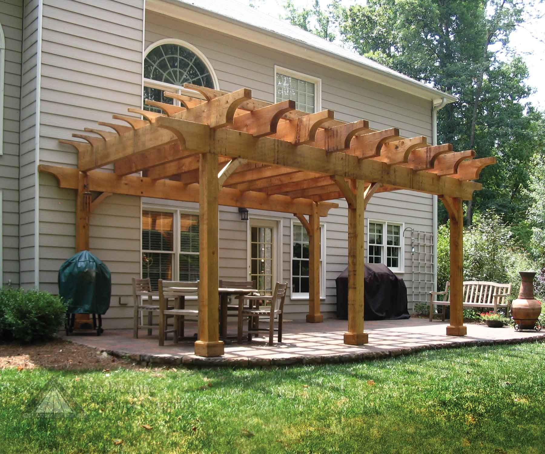 pictures of chunky cedar arbor from atlanta decking and fence