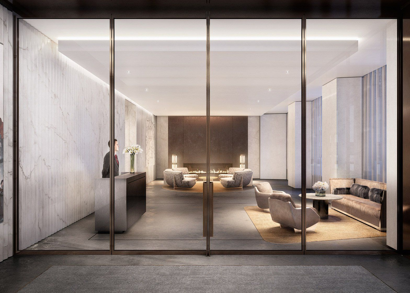 Foster S One Hundred East Fifty Third Street Residential Skyscraper Norman Foster Nyc Condo Interior Rendering