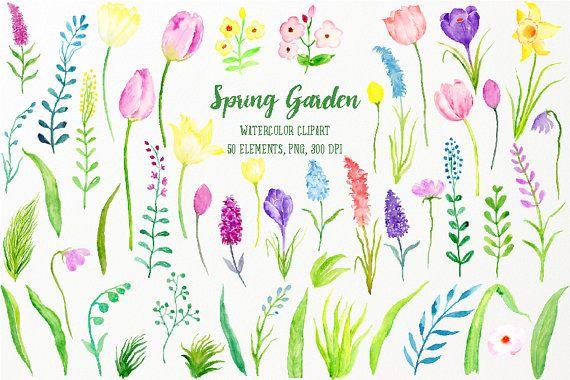 Spring Flower Garden Clip Art