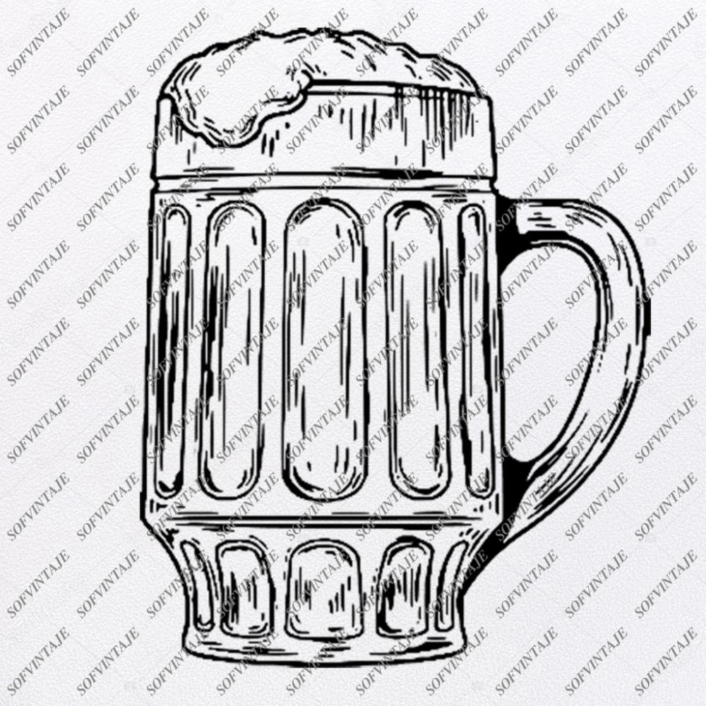 Beer Svg File Mug of Beer Original Svg DesignDrink Svg