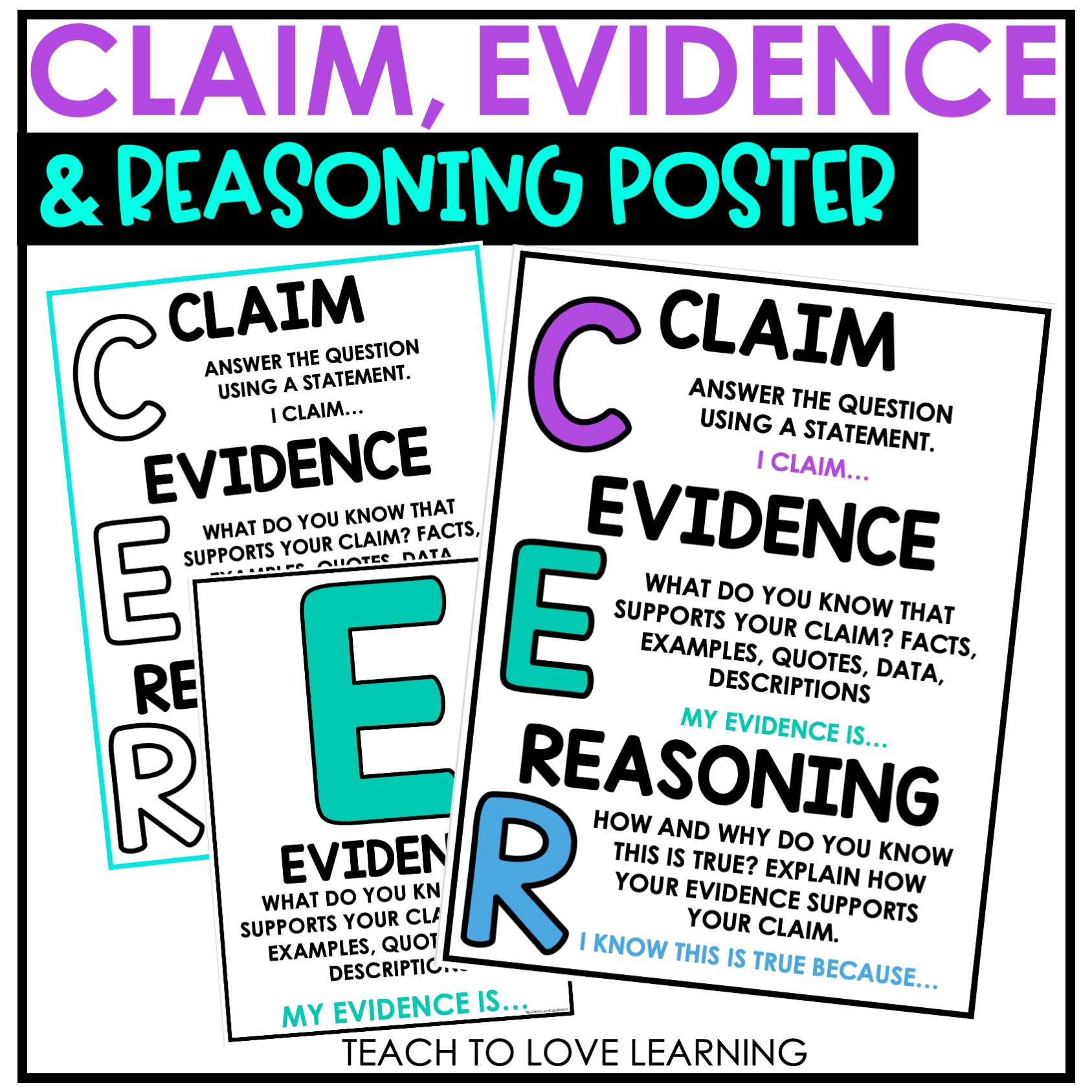 Claim Evidence And Reasoning Poster In