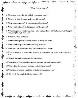 newlywed game type questions newlywed game type questions bridal shower