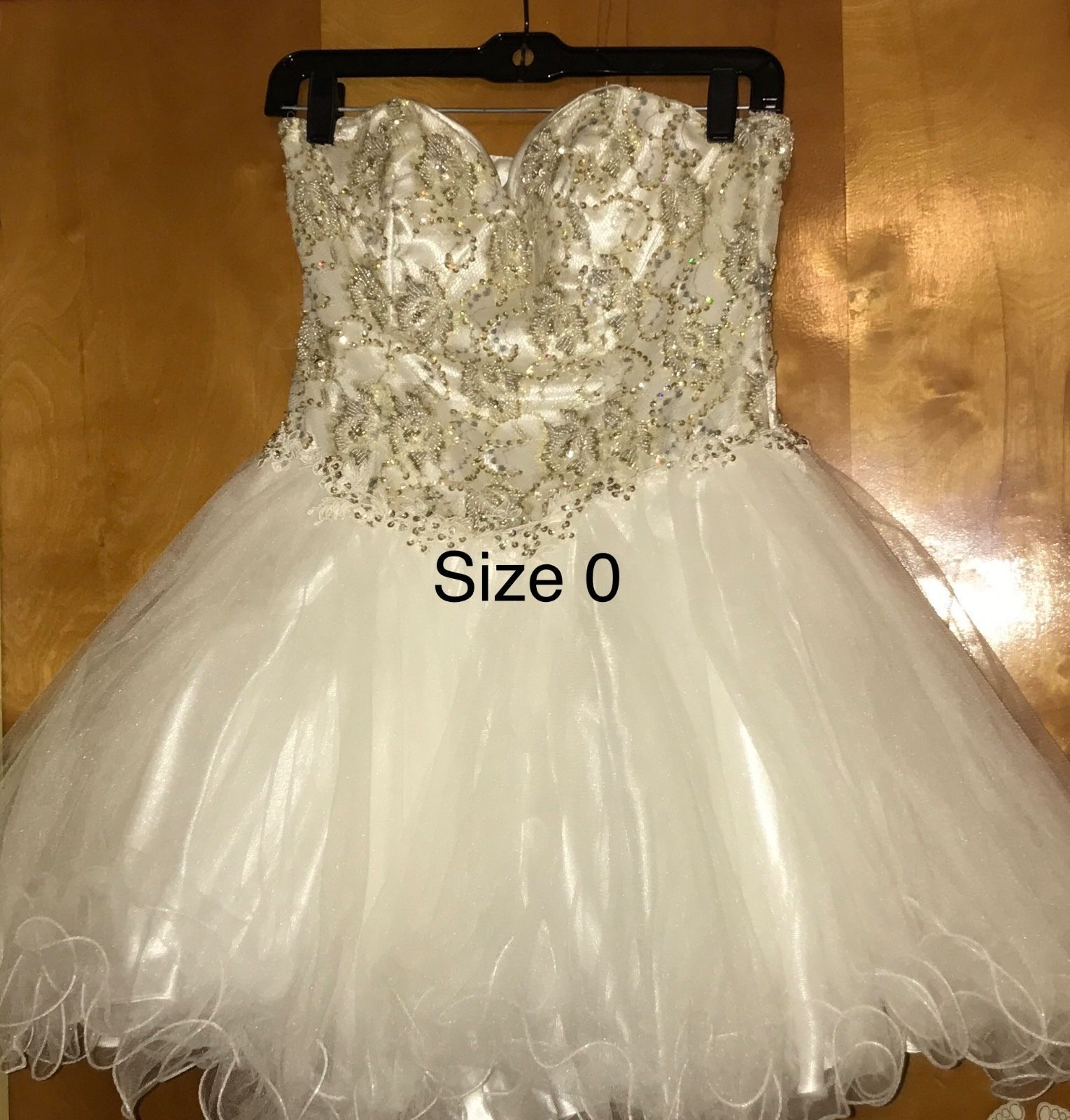 Cool awesome terani couture creamgold u silv short prom