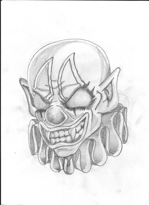 Easy Scary Halloween Drawings : scary, halloween, drawings, Halloween, Tattoo, Creepy, Drawings,, Scary, Clown, Drawing,, Drawings
