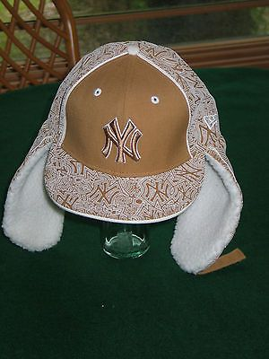 2bcdddf1412 New York Yankees MLB Down Flap Fitted Hat Cap 7 1 8 by 59FIFTY   New ...