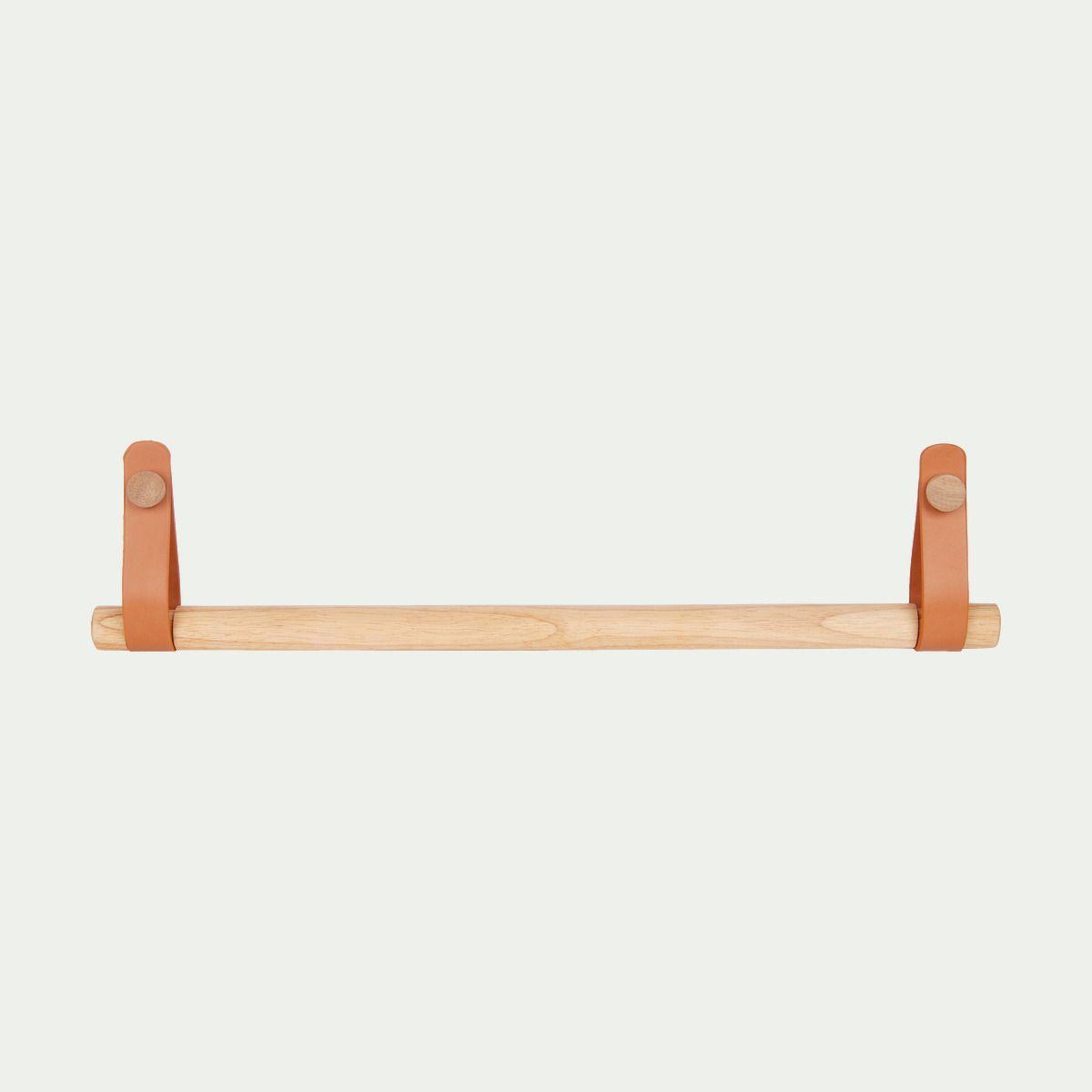 Porte Serviette À Suspendre porte serviette barre bois et cuir - alinéa   porte