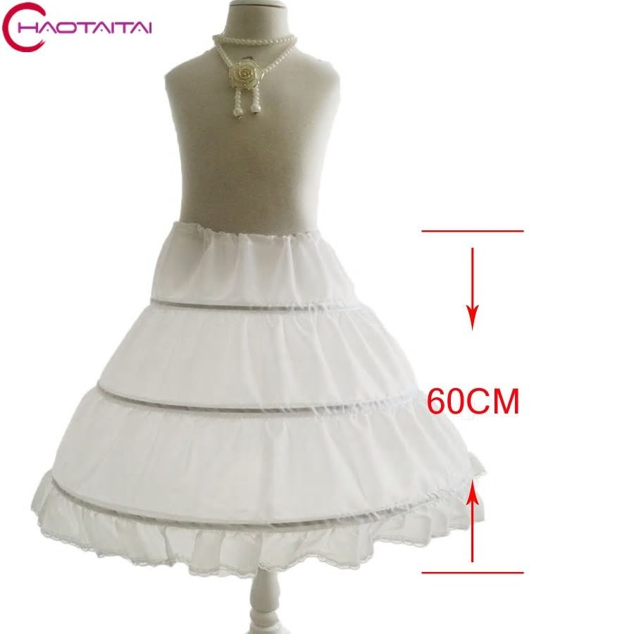 ff69d6bff8d5 High Quality Long Crinoline Petticoat for Kids Flower Girl Dress Real Photo  No Hoops Accessories Waist to Hem
