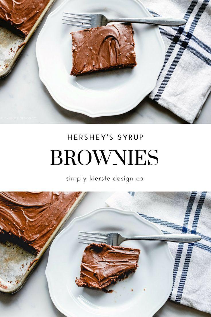 Chocolate brownies with hersheys syrup recipe