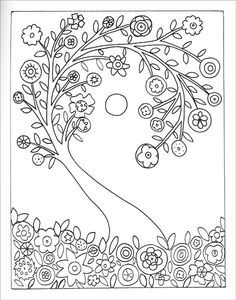 Fanciful Folk Art Coloring Book by Karla Gerard Desen Boyama