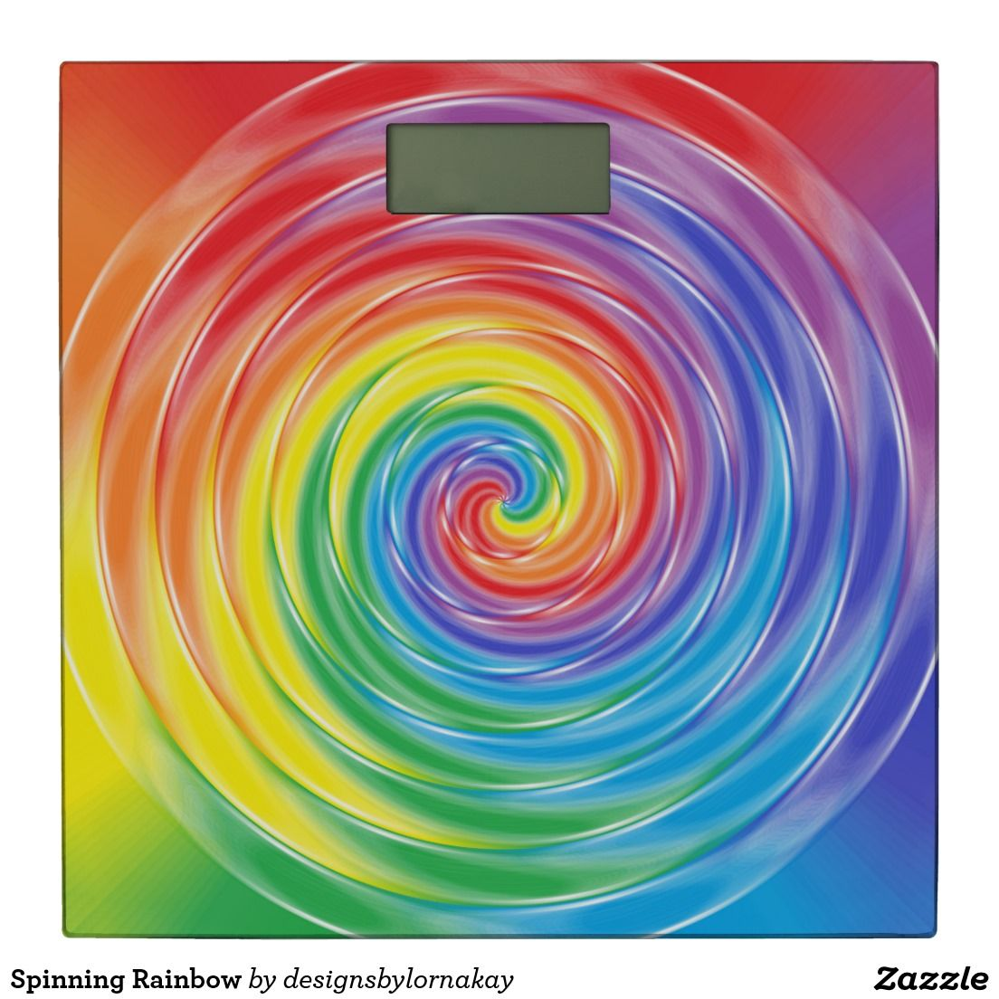 Spinning Rainbow Bathroom Scale