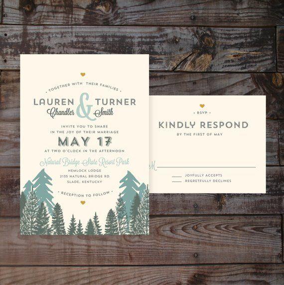 Printed Wedding Invitations Elegant Wedding Invitations Outdoor