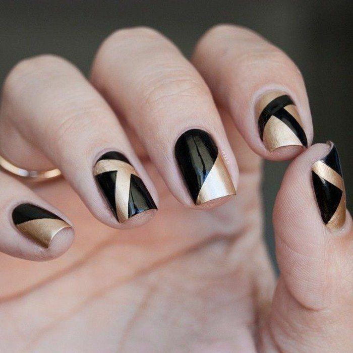 Art deco ladies black matte french manicure further imagenes de thalia 2015 also spa art - Deco french manucure ...