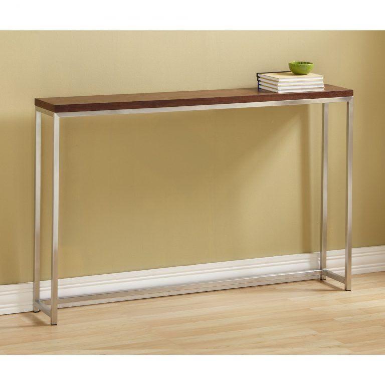50 Classic Console Table Walnut Long Thin Table For Hallways Minimalist Design Tall Narrow Wood Furniture For Small Spaces In 2021 Classic Console Table Console Table Modern Console Tables