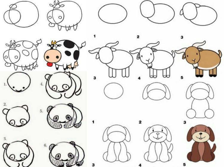 lernen sie und ihr kind tiere zeichnen f r einen zoo oder bauernhof zeichnen pinterest. Black Bedroom Furniture Sets. Home Design Ideas