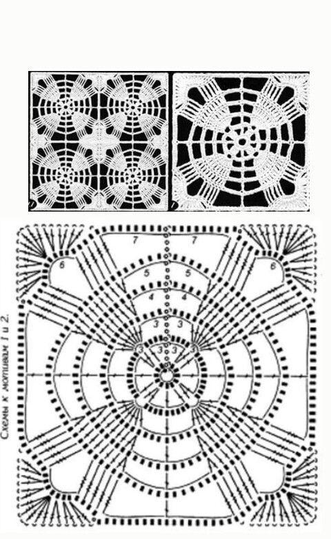 Granny o Square a crochet con gráfico | arte crochet | Pinterest ...