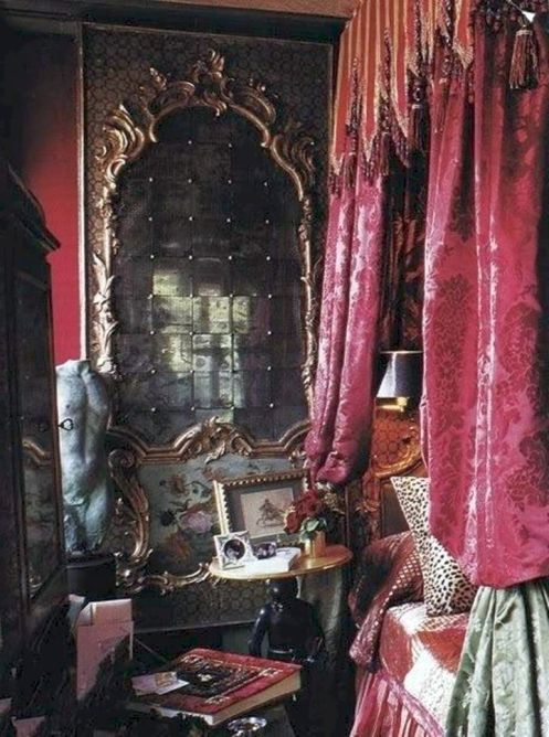 Best 46 Captivating Gothic Canopy Bed Curtain Design Ideas With 400 x 300