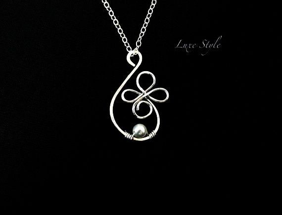 Contemporary Wire Jewelry Designs Wire wrapped Pearl White