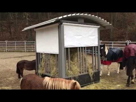 Zeitgesteuerte heuraufe diy team shetty sport be for Boden heuraufe pferd