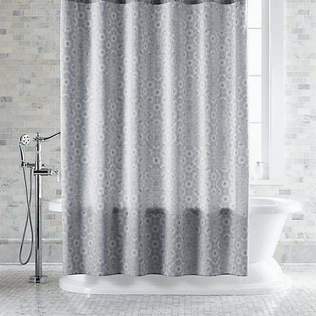 Marimekko Kioto Light Grey Shower Curtain Gray Shower Curtains
