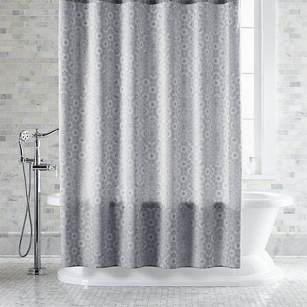 Marimekko Kioto Light Grey Shower Curtain