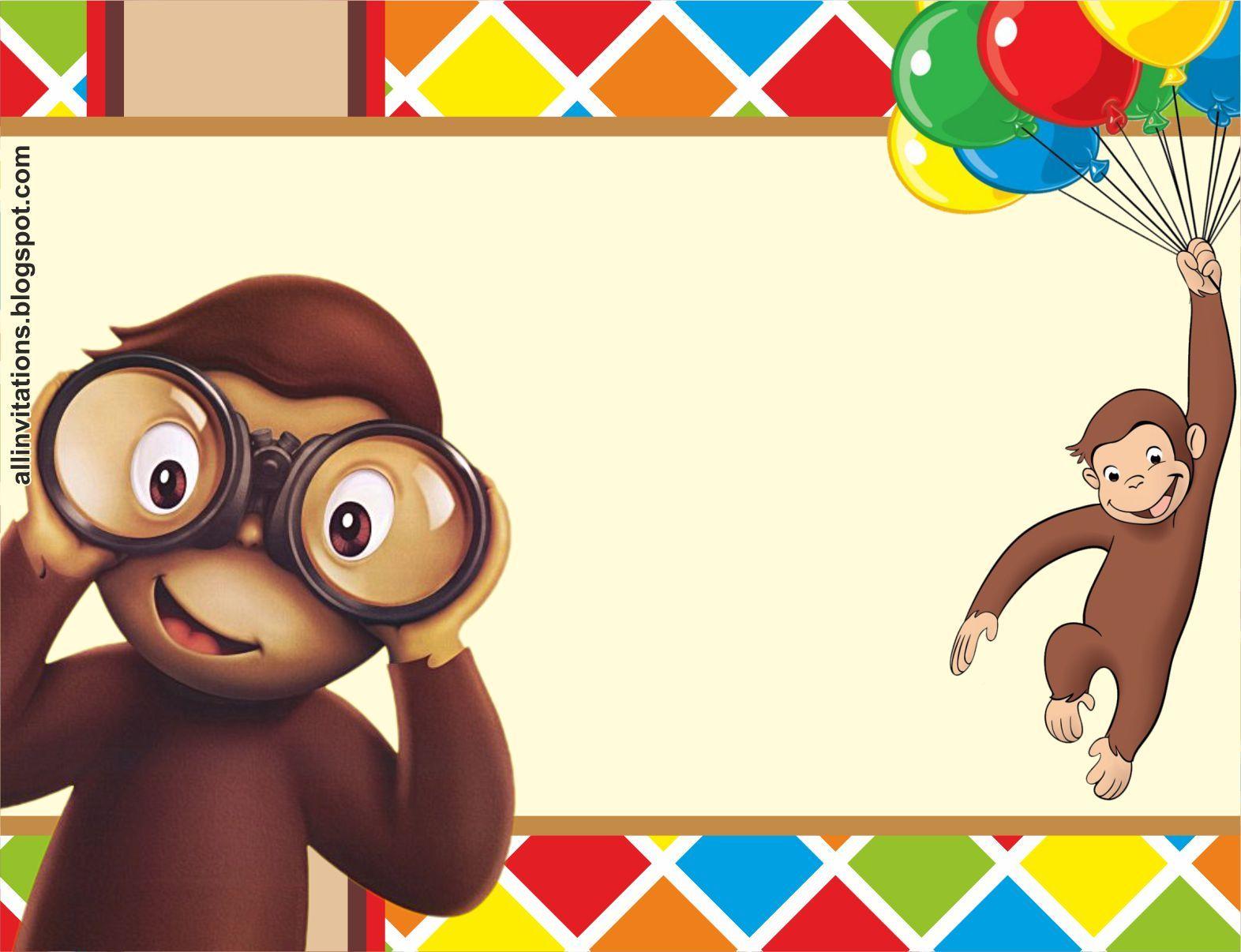 Plantilla Invitacion Jorge El Curioso Cumpleaños De Jorge