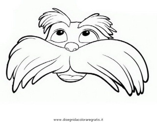 It's just a graphic of Revered Printable Lorax Mustache and Eyebrows