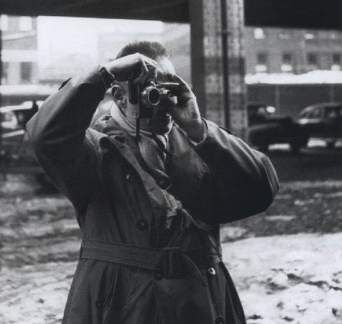 Henry Cartier-Bresson at N. Y. Docks by Clemens Kalischer