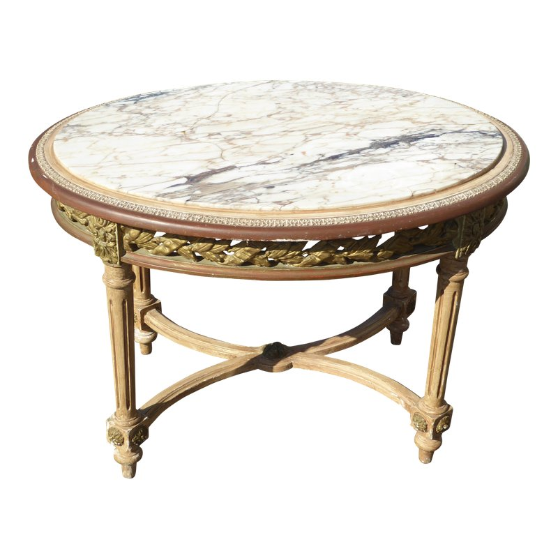 Park Art|My WordPress Blog_Antique Brass Coffee Table With Marble Top