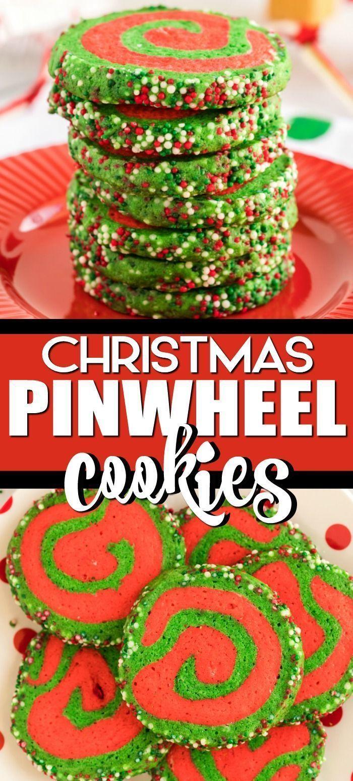christmas pinwheel sugar cookies with sprinkles christmas cookies Fancy, christm...    christma