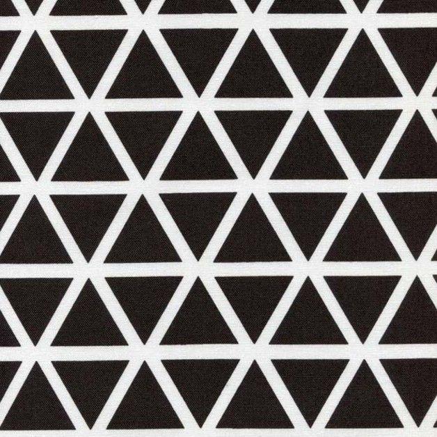 Stoff grafische muster stoff dreieick dreiecke schwarz for Schwarze mustertapete