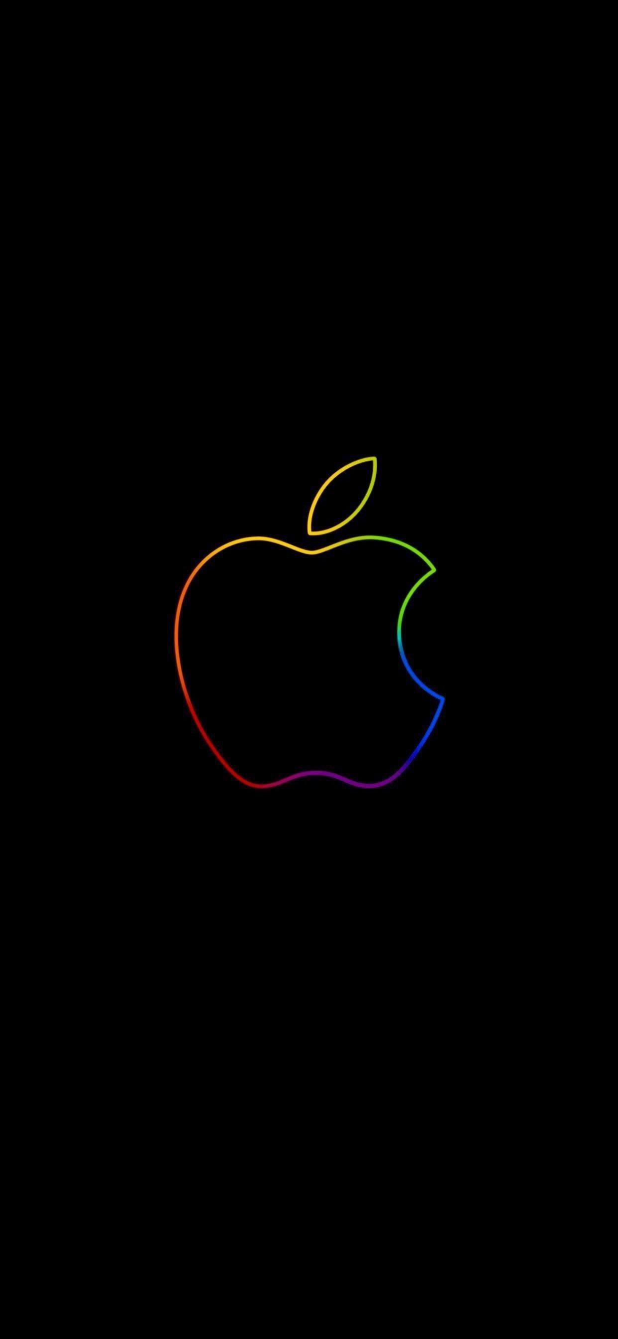 Apple Logo Neon Applewallpaperiphone Apple Logo Neon Iphone Wallpaper Logo Apple Logo Wallpaper Iphone Apple Wallpaper Iphone